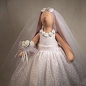 Куклы и игрушки ручной работы. Ярмарка Мастеров - ручная работа Тильда Зайка Невеста. Handmade.