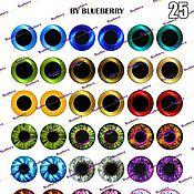 Материалы для творчества handmade. Livemaster - original item Eyes for Blythe, 14 mm, printout metallic. Handmade.
