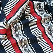 Материалы для творчества handmade. Livemaster - original item Crepe chiffon striped. Handmade.