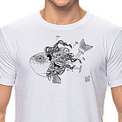 Одежда ручной работы. Ярмарка Мастеров - ручная работа авторские принты на футболках. Handmade.