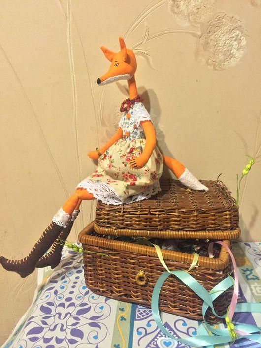 Игрушки животные, ручной работы. Ярмарка Мастеров - ручная работа. Купить Кукла лисичка. Handmade. Комбинированный, лиса рыжая