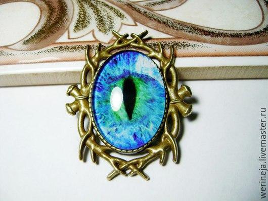"""Броши ручной работы. Ярмарка Мастеров - ручная работа. Купить Брошка """"Глаз"""". Handmade. Синий, от сглаза, обереги, подарок"""
