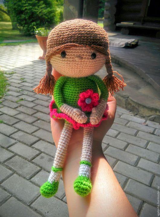 """Человечки ручной работы. Ярмарка Мастеров - ручная работа. Купить """"Кукла Вика"""". Handmade. Комбинированный, розовый, кукла в подарок"""