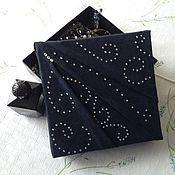 """Для дома и интерьера ручной работы. Ярмарка Мастеров - ручная работа """"Ночные узоры"""" - коробка для украшений. Handmade."""