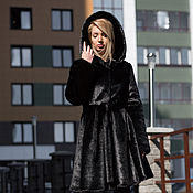 Одежда handmade. Livemaster - original item The under fur coat black mink. Handmade.