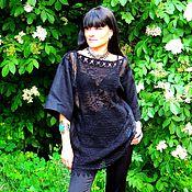 Одежда ручной работы. Ярмарка Мастеров - ручная работа Платье-туника в БОХО стиле из льна и хлопка. Handmade.