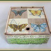Для дома и интерьера ручной работы. Ярмарка Мастеров - ручная работа Чайная коробка У лета в гостях. Handmade.