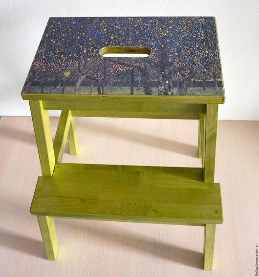 """Мебель ручной работы. Ярмарка Мастеров - ручная работа. Купить Табурет-ступенька (стремянка) """"Грушевые деревья"""" Густава Климта. Handmade."""