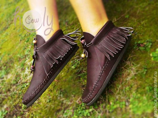 """Обувь ручной работы. Ярмарка Мастеров - ручная работа. Купить Стильные кожаные ботиночки """"Positive Brown"""". Handmade. Коричневый"""