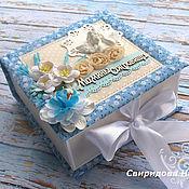 Подарки к праздникам ручной работы. Ярмарка Мастеров - ручная работа Мамины сокровища коробочка для мальчика. Handmade.