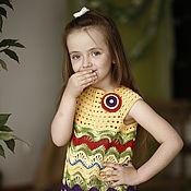 Работы для детей, ручной работы. Ярмарка Мастеров - ручная работа Платье для девочки вязаное крючком Тюльпаны. Handmade.