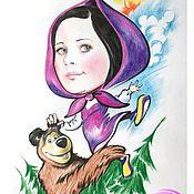 Подарки к праздникам handmade. Livemaster - original item Friendly cartoon caricature girl. Handmade.