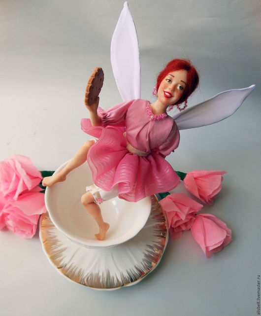 Сказочные персонажи ручной работы. Ярмарка Мастеров - ручная работа. Купить Розовая Чайная фея. Handmade. Розовый, для кухни, кухня