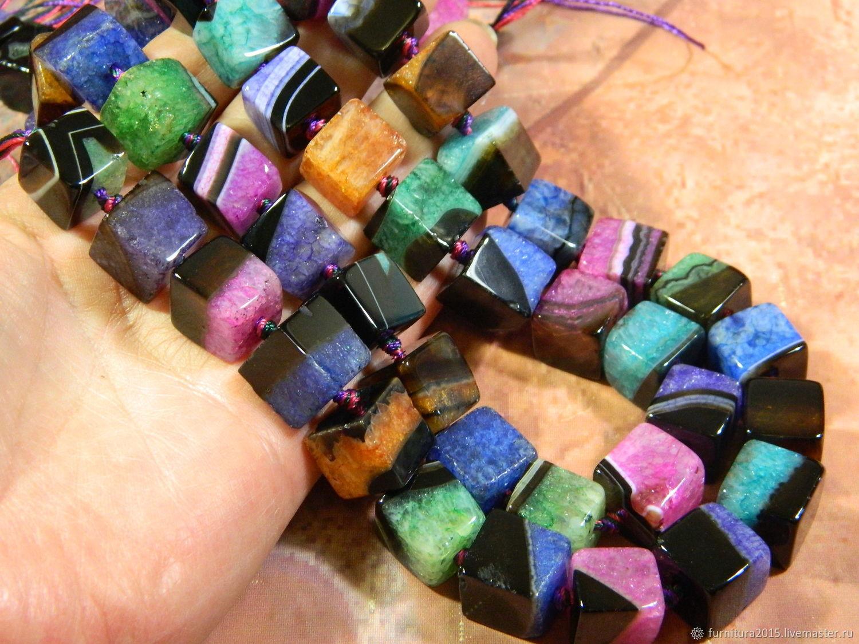 Агат кубик 13 мм натуральный камень. шт, Бусины, Саратов,  Фото №1