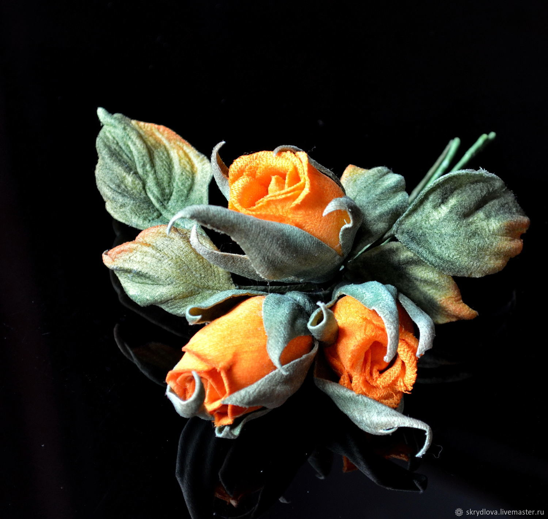 Orange bouquet, Brooches, Lyubertsy,  Фото №1