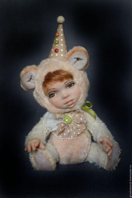 """Мишки Тедди ручной работы. Ярмарка Мастеров - ручная работа. Купить Теддидолл """"Клепик"""". Handmade. Бежевый, мишка теддидолл, мишка"""