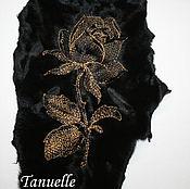 Одежда ручной работы. Ярмарка Мастеров - ручная работа Вышивка на мехе. Handmade.