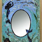 """Для дома и интерьера ручной работы. Ярмарка Мастеров - ручная работа Зеркало мозаичное """"Русалки"""" 46 см. Handmade."""