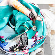 Аксессуары handmade. Livemaster - original item Silk handkerchief made of Christian Lacroix fabric