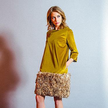 Одежда ручной работы. Ярмарка Мастеров - ручная работа Платье-конструкто со съемной меховой юбкой. Handmade.