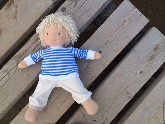 Вальдорфская игрушка ручной работы. Ярмарка Мастеров - ручная работа. Купить Морячок. Handmade. Синий, waldorf doll, текстильная кукла