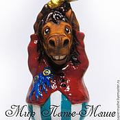Для дома и интерьера ручной работы. Ярмарка Мастеров - ручная работа Елочная игрушка, лошадь, статуэтка (фигурка, конь). Handmade.