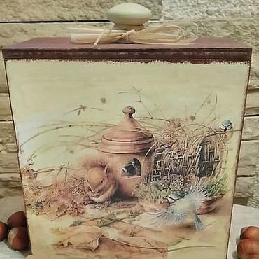 Для дома и интерьера ручной работы. Ярмарка Мастеров - ручная работа Короб для орехов Белочка. Handmade.
