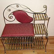 """Кованая банкетка """"Красная Императрица"""" кованая мебель."""