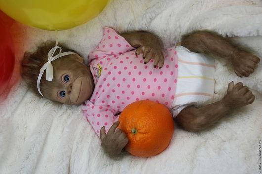 Куклы-младенцы и reborn ручной работы. Ярмарка Мастеров - ручная работа. Купить Бинди девочка. Handmade. Розовый, винил