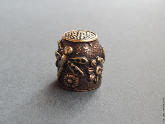 Миниатюрные модели ручной работы. Ярмарка Мастеров - ручная работа. Купить наперсток из бронзы ручной работы. Handmade. Наперсток
