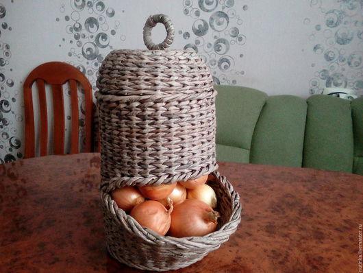 Кухня ручной работы. Ярмарка Мастеров - ручная работа. Купить Луковый домик. Handmade. Бумажная лоза, тара, для кухни