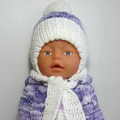 Куклы и игрушки ручной работы. Ярмарка Мастеров - ручная работа Вязаный комбинезон для BABY born. Handmade.