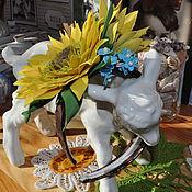 """Украшения ручной работы. Ярмарка Мастеров - ручная работа Ободок для волос """" Подсолнухи """". Handmade."""