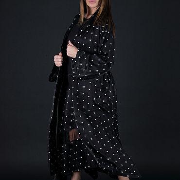 Clothing handmade. Livemaster - original item Black, long and elegant cardigan - VE0597CV. Handmade.