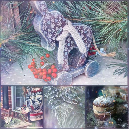 """Детская ручной работы. Ярмарка Мастеров - ручная работа. Купить Ослик """"Снежинка"""". Handmade. Голубой, для детской, Новый Год, рождество"""