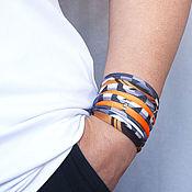 Украшения handmade. Livemaster - original item Grey Orange Bracelet. Handmade.