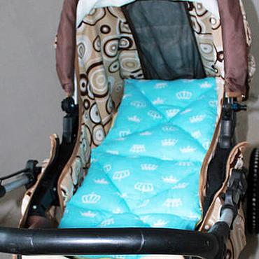 Работы для детей, ручной работы. Ярмарка Мастеров - ручная работа Матрасик в коляску для мальчика. Handmade.