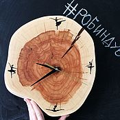 Часы классические ручной работы. Ярмарка Мастеров - ручная работа Часы из спила «балеринки». Handmade.