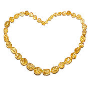 Работы для детей, handmade. Livemaster - original item Beads from amber