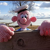Куклы и игрушки handmade. Livemaster - original item knitted toy. doll Sailor. The brave Sailor.. Handmade.