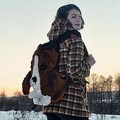 Сумки и аксессуары handmade. Livemaster - original item Backpack suede Baby Beagle. Urban backpack. Gift girl. Handmade.