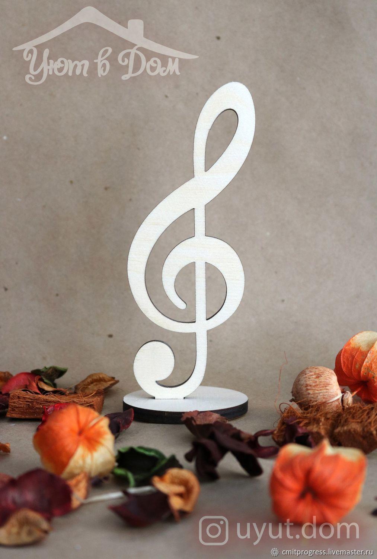 Treble clef on stand, Figurines, Dimitrovgrad,  Фото №1