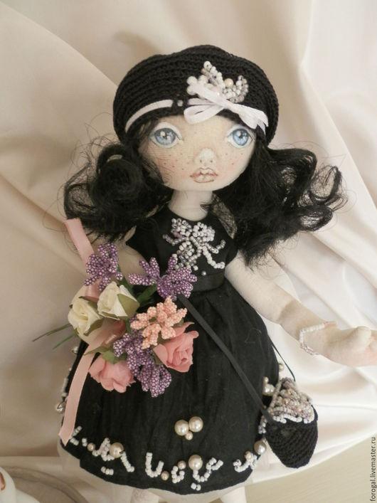 """Коллекционные куклы ручной работы. Ярмарка Мастеров - ручная работа. Купить """"Маленькое черное платье"""". Handmade. Черный, кукла в подарок"""