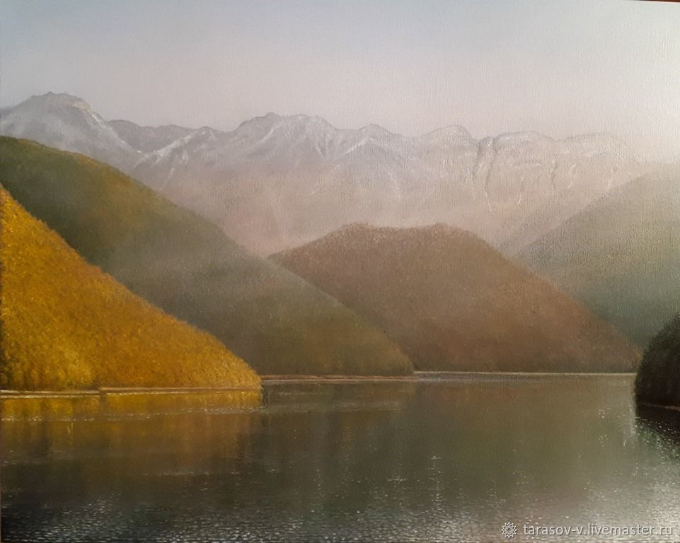 Autumn in the mountains of Colchis. Lake Ritsa.(artist Vladimir Tarasov), Pictures, Moscow,  Фото №1