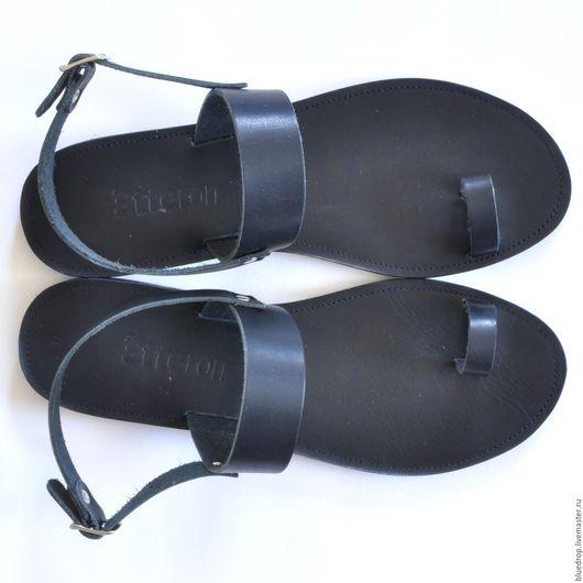 Обувь ручной работы. Ярмарка Мастеров - ручная работа. Купить Кожаные сандалии с пальчиком и ремешком. Handmade. Сандалии, женские сандалии