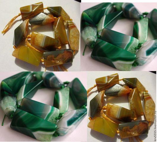 Для украшений ручной работы. Ярмарка Мастеров - ручная работа. Купить Агат с друзой, 40 мм, зеленый, желтый. Handmade.