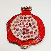"""Картины и панно ручной работы. Ярмарка Мастеров - ручная работа """"Розовый гранат"""" панно настенное со стеклом (поколение 2). Handmade."""