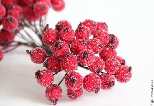 Сахарные ягодки, диаметр 1 см, цвет красный, С-1-1