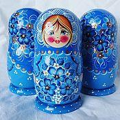 Русский стиль handmade. Livemaster - original item Matryoshka floral, 5 seats, Masha .. Handmade.