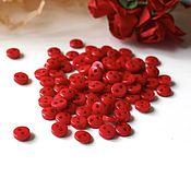 Материалы для творчества ручной работы. Ярмарка Мастеров - ручная работа Пуговицы 5 мм красные. Handmade.